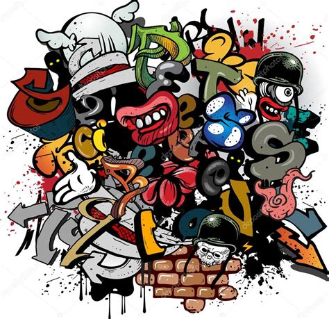 graffiti vector design elements 25x eps graffiti elements stock vector 169 pathique 15749069