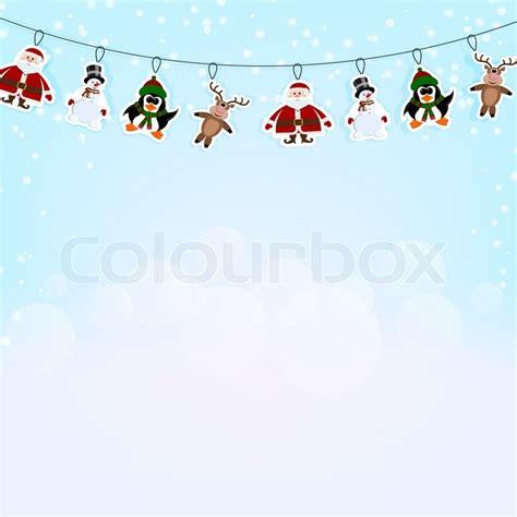 weihnachten in einer berghütte weihnachten blauer hintergrund mit einer girlande