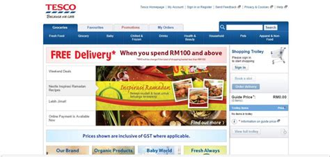 Tesco Gift Card Online Groceries - 10 online grocery shopping sites in malaysia