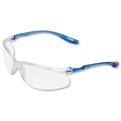 3m virtua sport ccs safety glasses clear blue frame