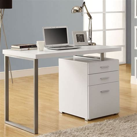 computer desk with file cabinet in desks and hutches
