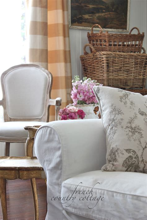 White Slipcovers French Country Cottage Country Sofa Slipcovers