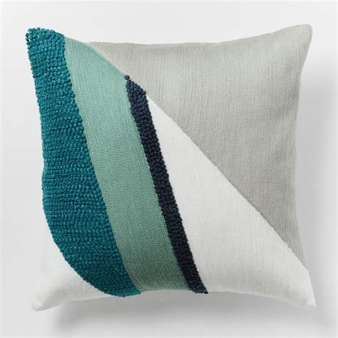 Crewel Pillow Covers by Crewel Diagonal Colorfield Pillow Cover Light Pool