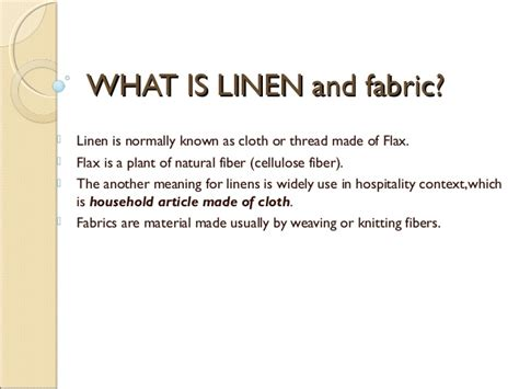 what is the meaning of upholstery linen and fabric handling