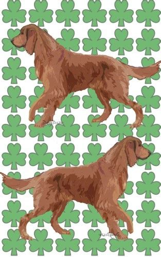 setter dog breed crossword clue gorgeous green and red irish setter with shamrocks fabric