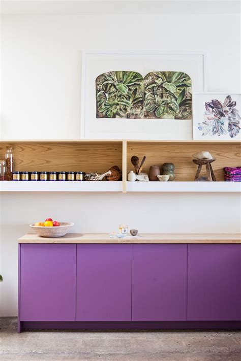 purple cabinets kitchen purple kitchen cabinets