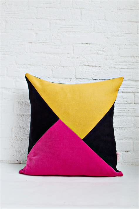 Handmade Cushion Covers - handmade cushion cover mustard pink black shop