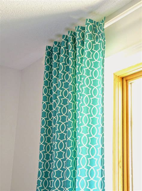 modern pattern curtains remodelaholic simple sewn back tab curtains