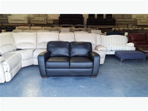 Ex Display Leather Sofas Ex Display Natuzzi Editions Black Leather 2 Seater Sofa Outside Birmingham Birmingham
