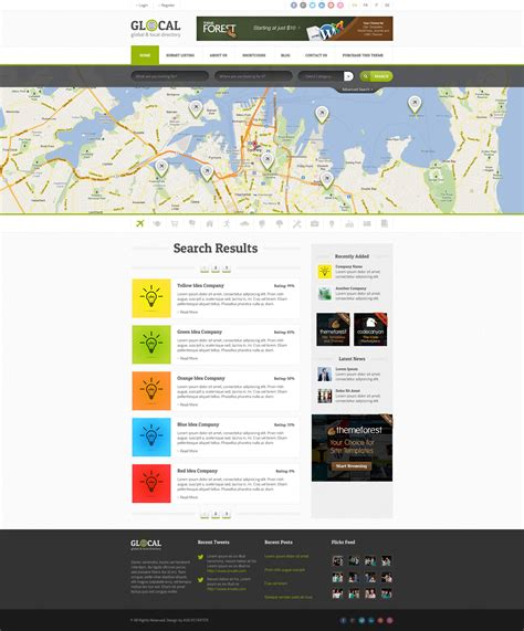 glocal directory listings wordpress theme by uouapps