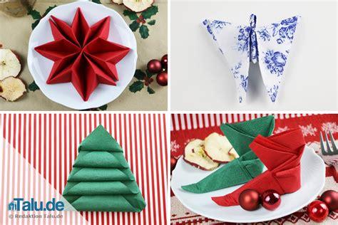 Weihnachtliche Servietten Falten by Anleitung Servietten Falten F 252 R Weihnachten Sterne