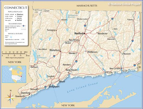 usa connecticut map reference maps of connecticut usa nations project
