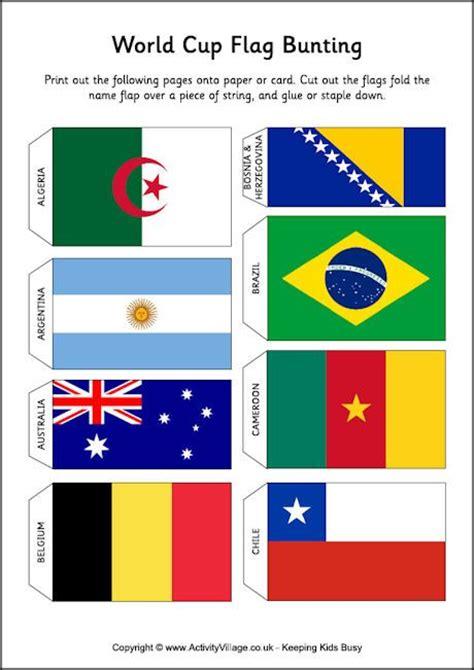 world cup flag bunting  printable print andor