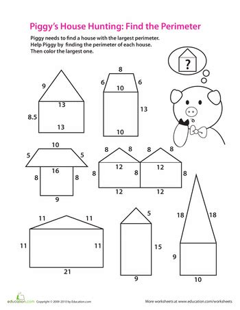 printable area pdf find the perimeter worksheets math and school