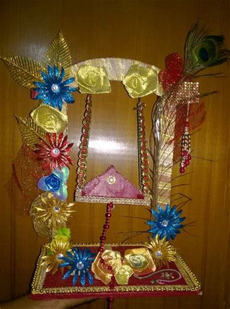 Janmashtami Home Decoration by Janmashtami Jhula Decoration Ideas Decoration For Pooja