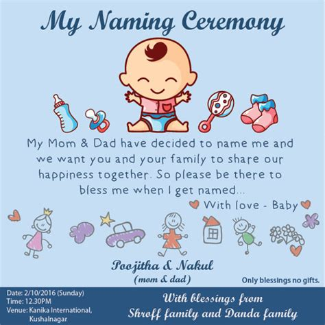 naming ceremony invitation template 76 invitation card exle free sle exle format