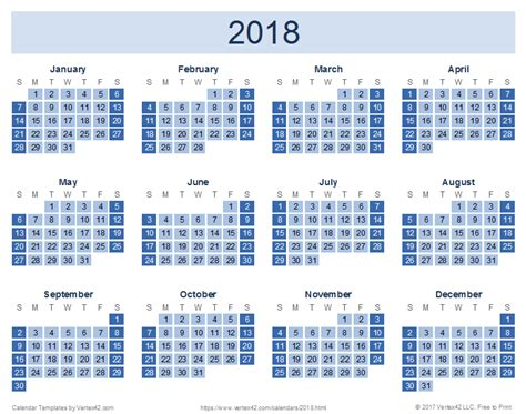 Calendar Dates 2018 2018 Calendar Templates And Images