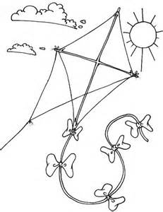 printable kite coloring pages coloring