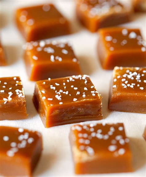 chewy food chewy salted caramels