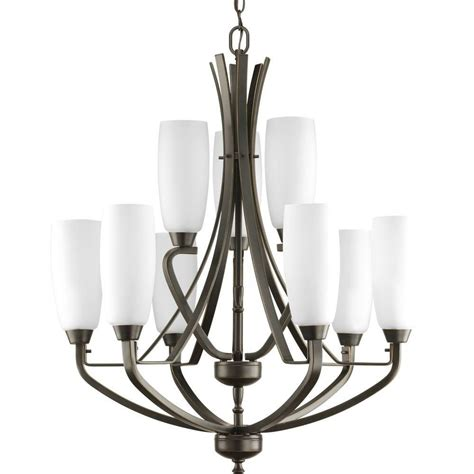 progress lighting wisten collection 9 light antique bronze