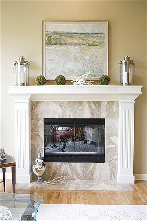 fireplace mantel decor casual cottage