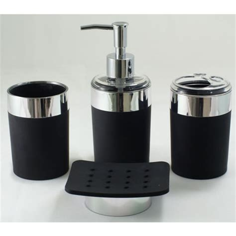 Black And White Bathroom Accessories Home Decorations Black White Bathroom Accessories Black Bathroom Accessories Ideas