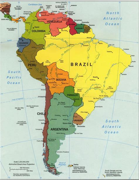 america map labeled countries map of and south america countries and capitals