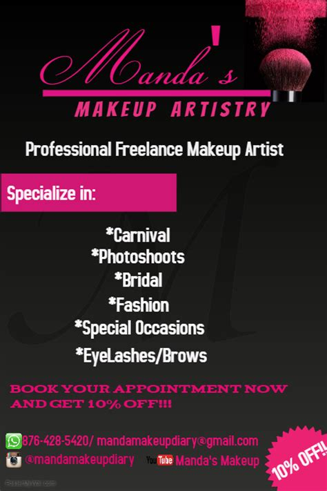 makeup artist flyers templates makeup flyer template postermywall