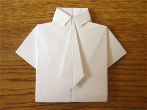 Paper Folding Shirt - image gallery origami shirt and tie