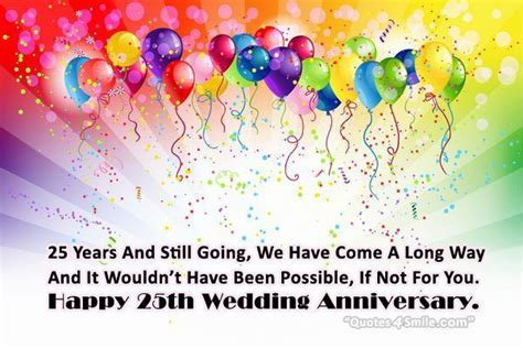 25th Wedding Anniversary Quotes To by 25th Wedding Anniversary Wishes Anniversary