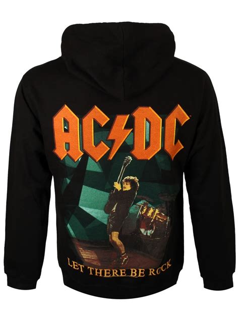 ac dc let there be rock black hoodie buy at grindstore