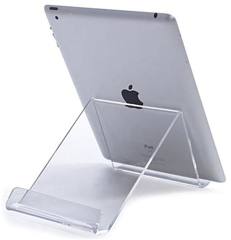 acrylic ipad stand acrylic ipad desk stand adjustable countertop tablet riser