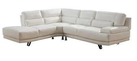 ivory leather sectional vivian full top grain ivory white leather sectional