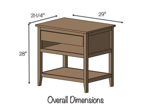 Bedside Table Dimensions | woodworking bedside table plans pdf plans pdf download