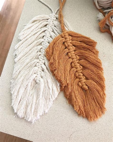 macrame feathers macrame feathers are all my feed lately it s so