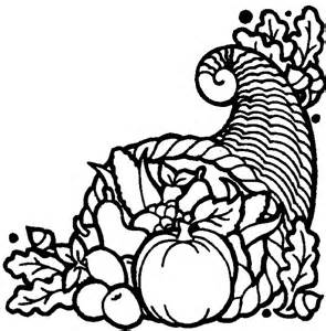 thanksgiving coloring pages thanksgiving cornucopia