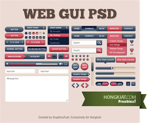 web gui layout 60 free gui sets for your next project part 1 hongkiat