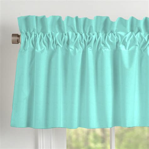 Teal Valance Solid Teal Window Valance Rod Pocket Carousel Designs