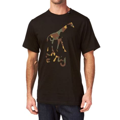 lrg camo giraffe t shirt black free uk delivery on