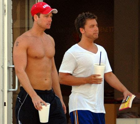 Lance Bass Diet And Workout by Lance Bass Hires Himself A Shirtless Bodyguard Towleroad