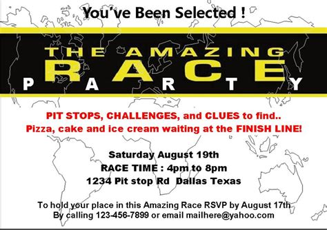 amazing race card templates amazing race printables review be your best