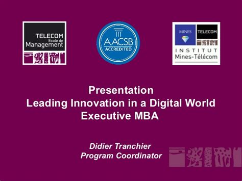 Executive Mba Programs In Utah by Executive Mba Leading Innovation In A Digital World