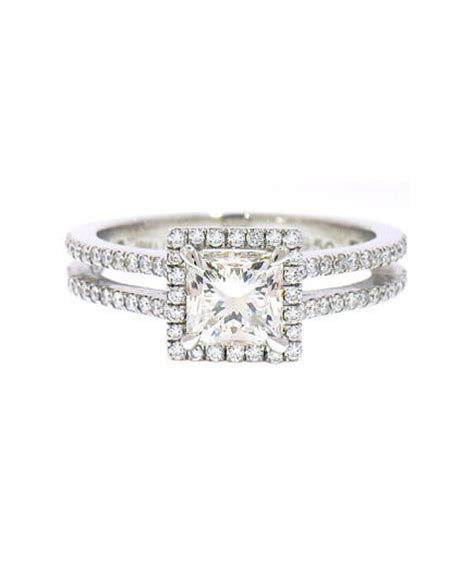 irina ferry platinum princess cut engagement ring