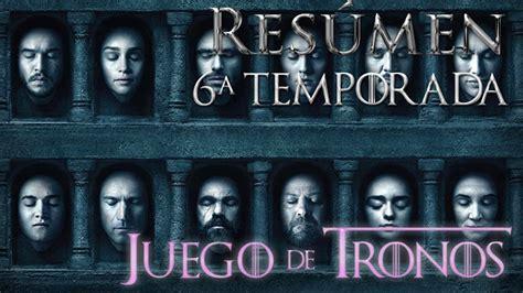 Resumen 3 Temporada Juego De Tronos by Res 218 De La Sexta Temporada De Quot Juego De Tronos Quot El