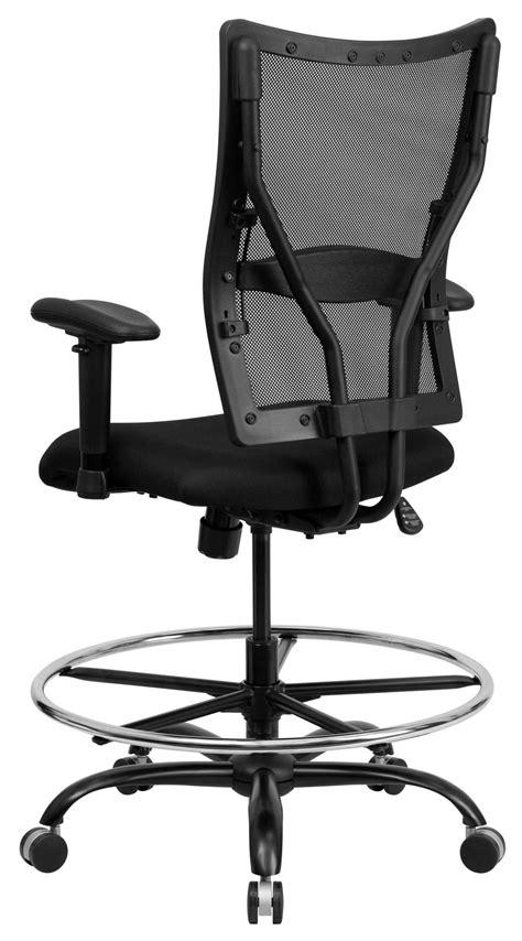 hercules big and drafting chair hercules series big black mesh arm drafting stool
