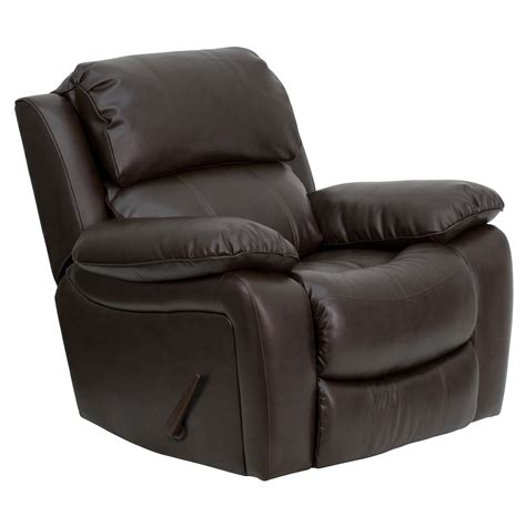 Rocking Leather Recliner flash leather rocker recliner by oj commerce 736 04