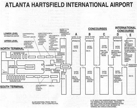 atlanta airport floor plan atlanta airport in the 1990s sunshine skies