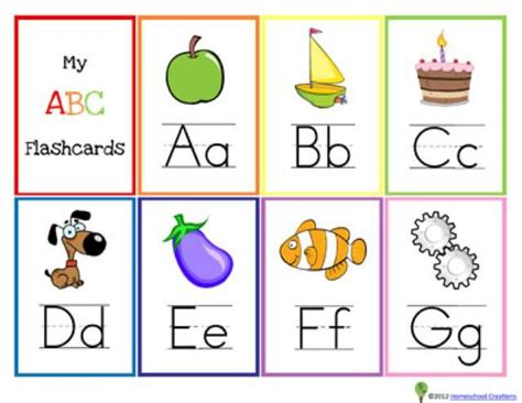 printable alphabet cards with pictures free printable alphabet flash cards for kids alphabet