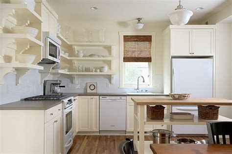 Open Kitchen With Island Small Kitchen Island With Open Shelves For The Traditional