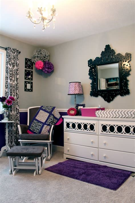 purple and grey room purple gray and pretty prints project nursery